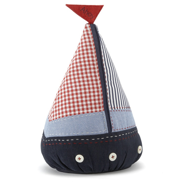 Boys Ahoy Fabric Boat Doorstop - Laura Ashley