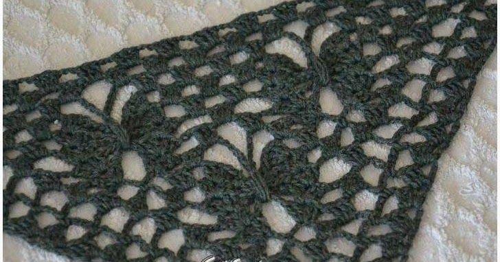 Crochet Shawl + Diagram + Pattern Step By Step + Video Tutorial