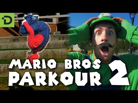 Super Mario Brothers Parkour 2 [In Real Life] - Mario Maker [4K] - YouTube