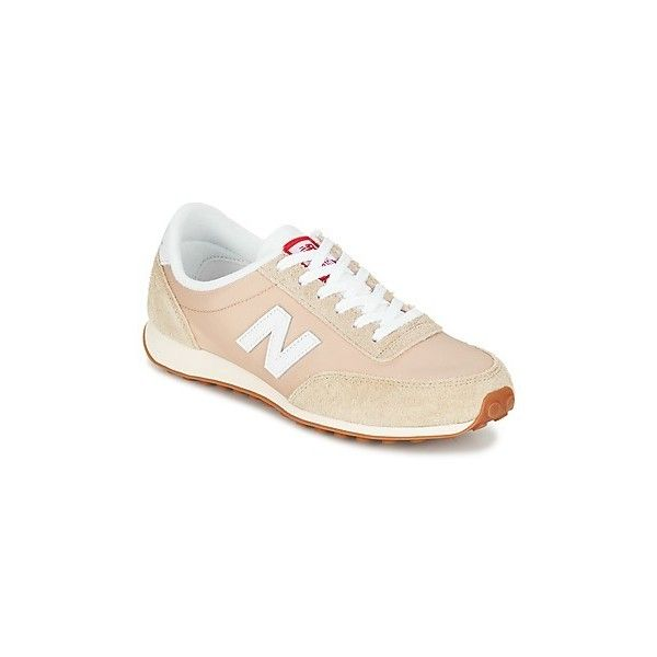 New Balance U410 Shoes (5.050 RUB) ❤ liked on Polyvore featuring shoes, beige, new balance, new balance footwear, beige shoes, low profile shoes and new balance shoes