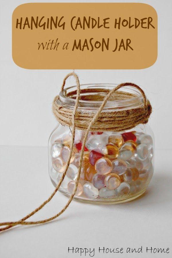 How To Make a Hanging Candle Holder Using a Mason Jar #masonjars #masonjarcrafts #budgetcrafts