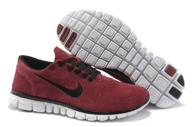 TTotir2026 Nike Free Run 3.0 Hommes Suede Shoes Red noir, nike free run 3 avis