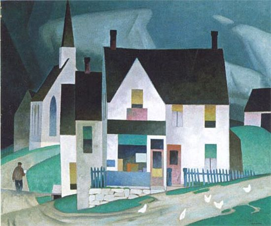 [Artist of the week] – Alfred Joseph Casson Alfred Joseph Casson (1898-1992) studied at Hamilton and Toronto (1915-17) and obtained his first real job in 1919 at a Toronto commercial art firm as an apprentice at Franklin Carmichael's. Carmichael had an enormous influence on Casson as an artist. This quality in his work culminated in Country Store (1945), the start of his so-called period of abstraction.