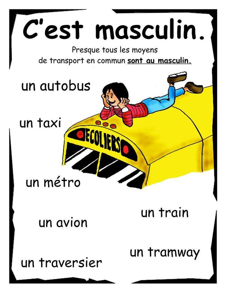 masculine transportation words