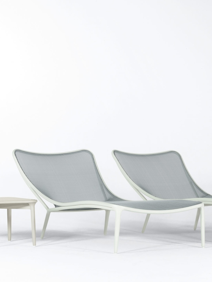 Cloud Nine Chaise by Brown Jordan - the sleek laidback frame and sling fabric make : brown jordan chaise - Sectionals, Sofas & Couches