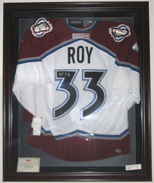Patrick Roy Signed Jersey - $595  www.animationartwork.com