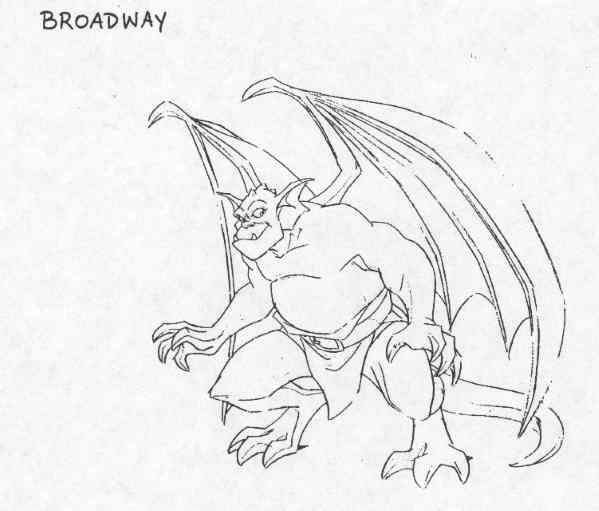 gargoyles characters coloring pages - photo#9