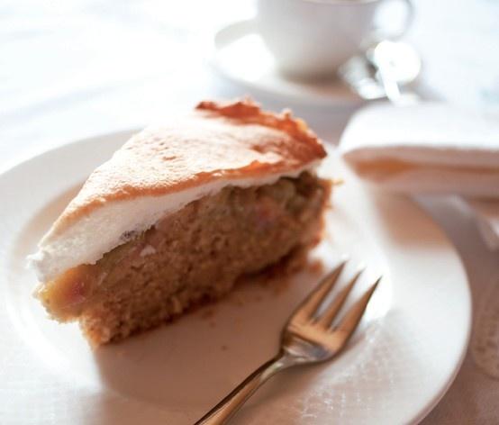 #Rhabarberkuchen #Rezept aus dem #Biohotel Schweitzer in Mieming, #Tirol