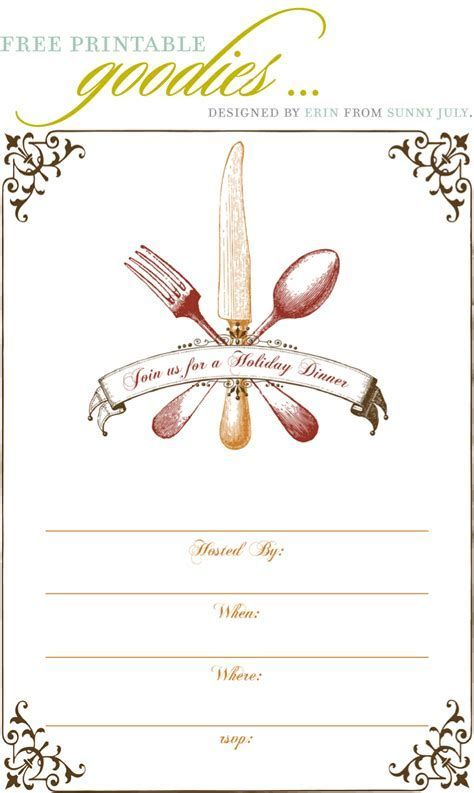 Image result for Blank Dinner Invitation Template Anna beulah