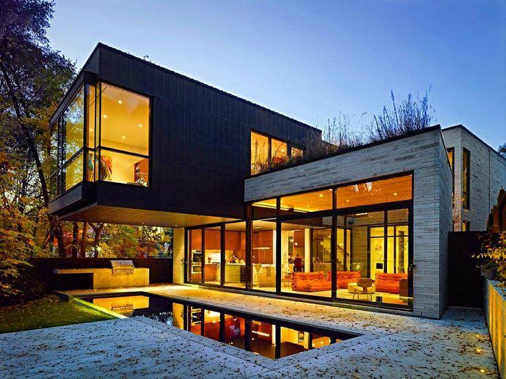 wonderful unique luxury glass home designs   Big Modern House Feature Design Idea Wonderful Modern ...