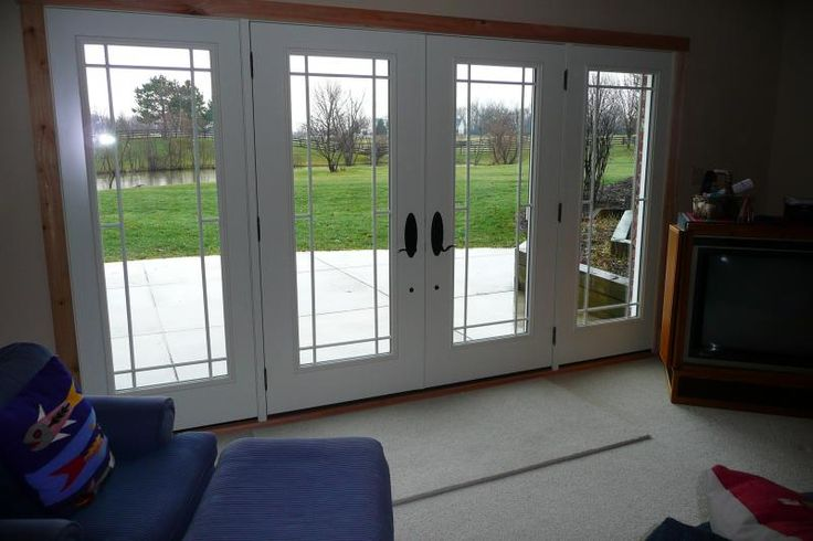 19 best windows images on pinterest casement windows for Sliding french doors with sidelights