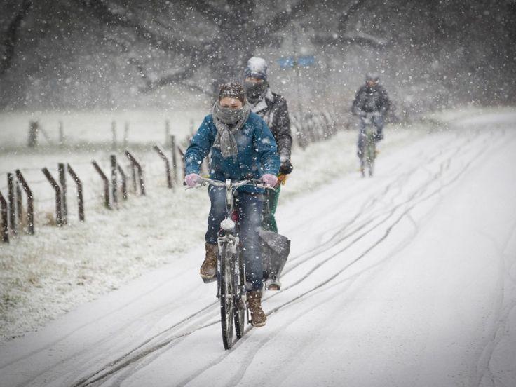 Winter in Holland en we blijven fietsen.....