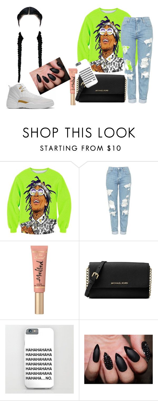"""Wiz Kalifah"" by ashantisowell on Polyvore featuring Topshop, Too Faced Cosmetics and Michael Kors"