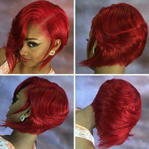 Fire Red Bob Curls Buns Braids Bobs Knots And
