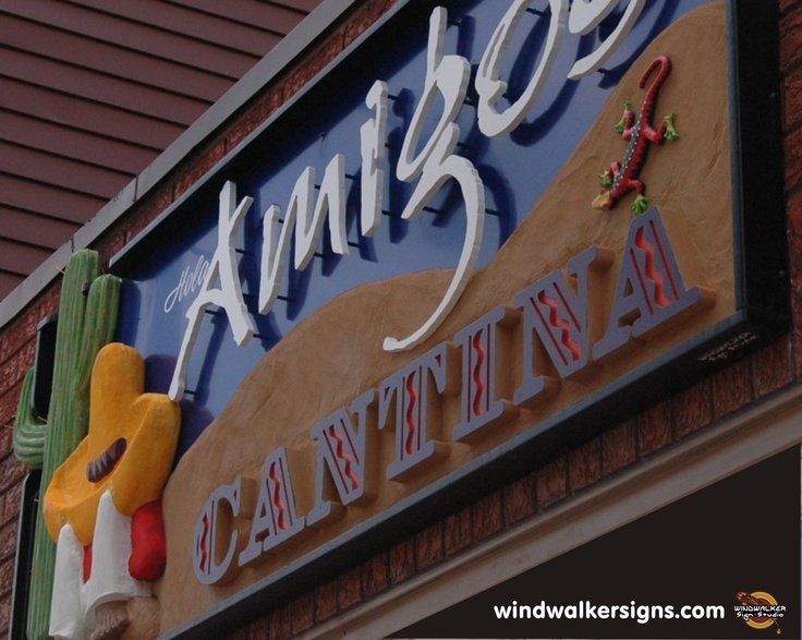 A 3d carved sign I did for a great Mexican Cantina. Windwalker Sign Studio