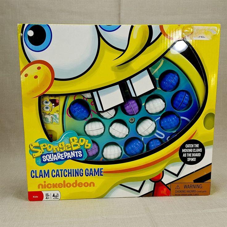 SpongeBob SquarePants Jumpin Jellyfish Clam Catching Fishing Game Nickelodeon
