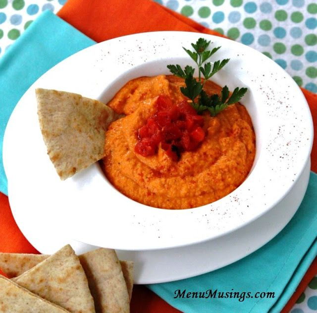 Easy Roasted Red Pepper Hummus | Recipes I want to try! | Pinterest