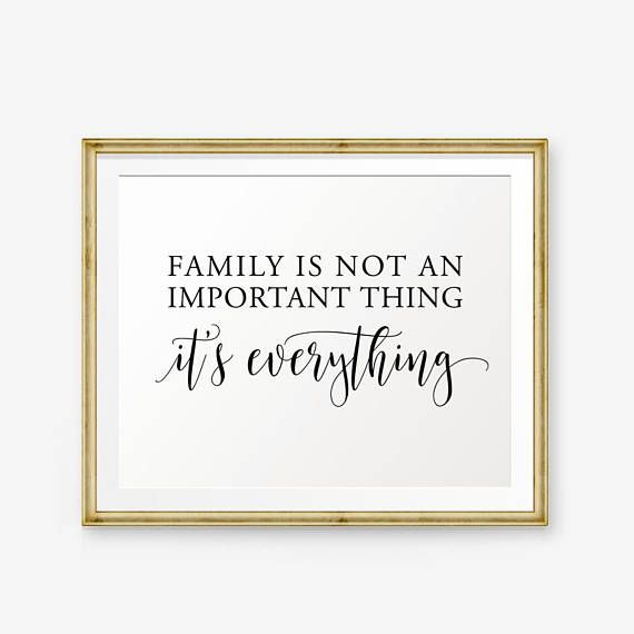 Family Sign House warming gift Family is not an important