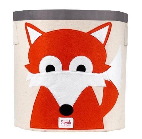 3 Sprouts Storage Bin - Fox, Children's Decor & Storage