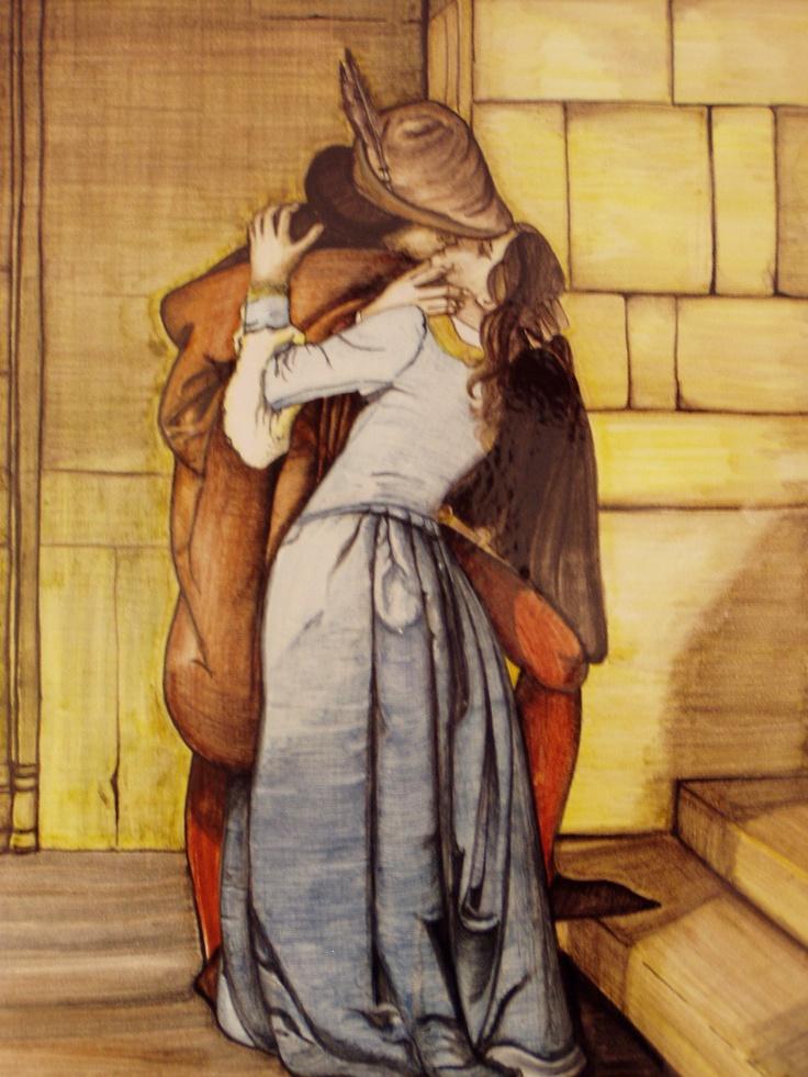 hand painted on tiles. Juliette & Romeo.