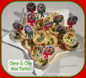 Christmas - Cheese and Chive Mini Tartlets - Perfect for Christmas and the New Year.