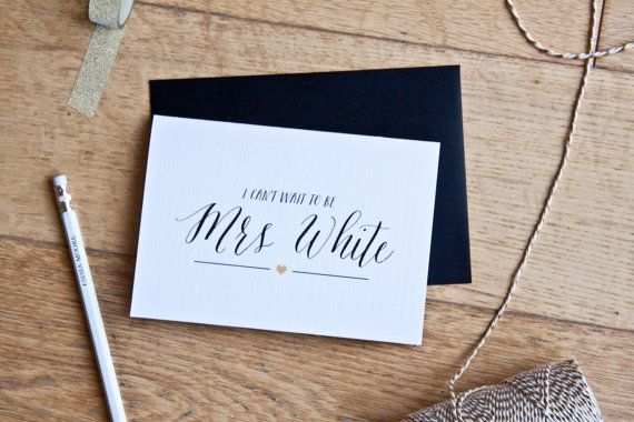 I cant wait to be your wife personalised wedding by EmmaMooreID