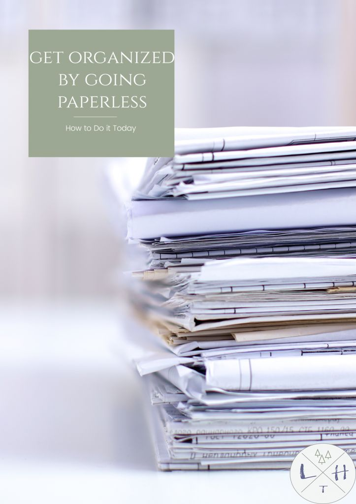 One of the worst things to try to deal with when decluttering your home is paper, the solution is going paperless as much as possible.
