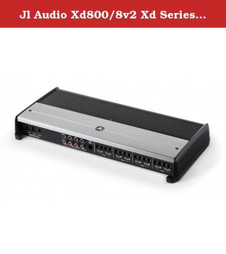 Jl Audio Xd800/8v2 Xd Series 800 Watt 8-channel Class D Car Audio Amplifier. XD Series 8-Channel Class D Car Amplifier RMS Power Rating (14.4V): Bridged, 4 ohms: 200 watts x 4 chan. RMS Power Rating (12.5V): 4 ohms: 60 watts x 8 chan. 2 ohms: 90 watts x 4 chan. Bridged, 4 ohms: 180 watts x 4 chan. Pulse Width Modulated MOSFET power supply LED power (green) and protect (red) indicators Variable Bass Boost (0 to +12 dB bass boost at 50 Hz) Wired remote bass level control optional JL Audio...