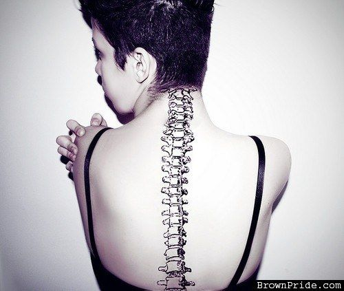 An Actual Spine | Community Post: 27 Gorgeous Spine Tattoos That Will Inspire You To Get Inked