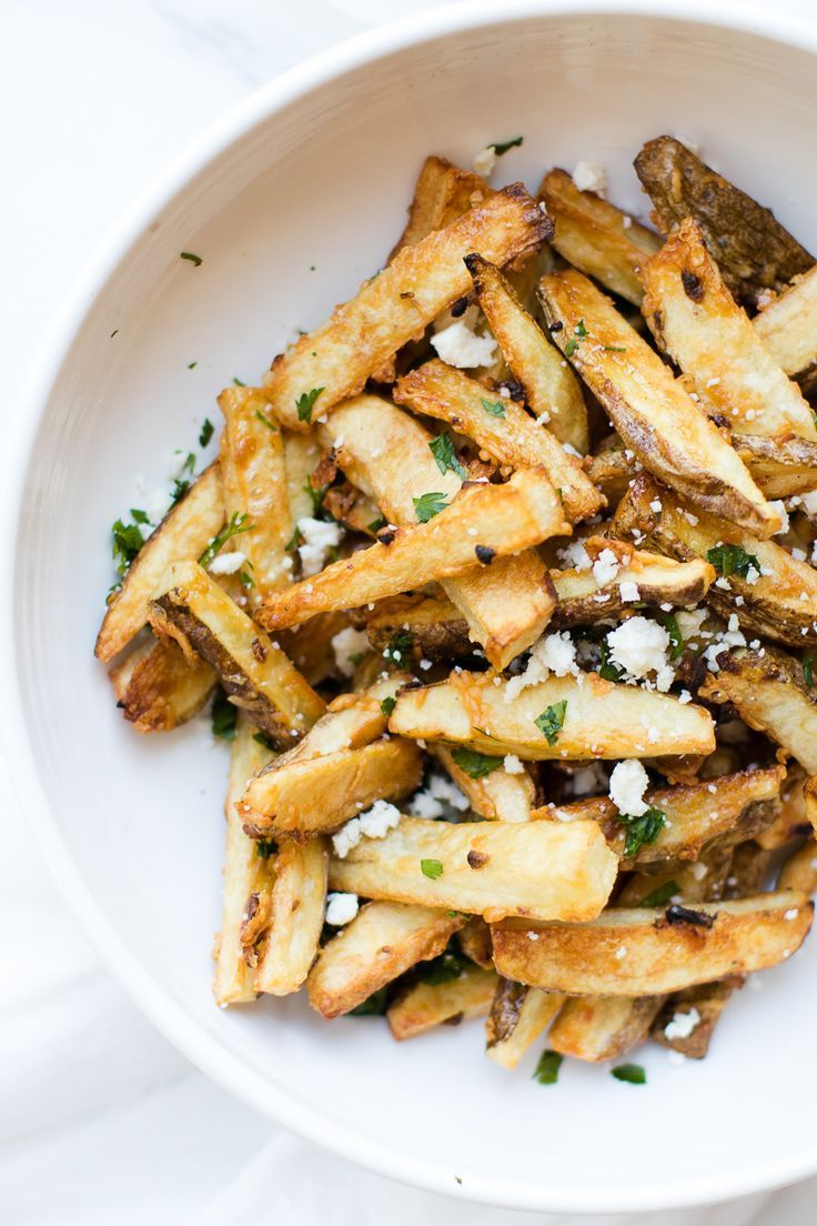 Garlic Parmesan Fries Tips Goods Oh So Delicioso Recipe Healthy Vegan Snacks Homemade French Fries Homemade Fries