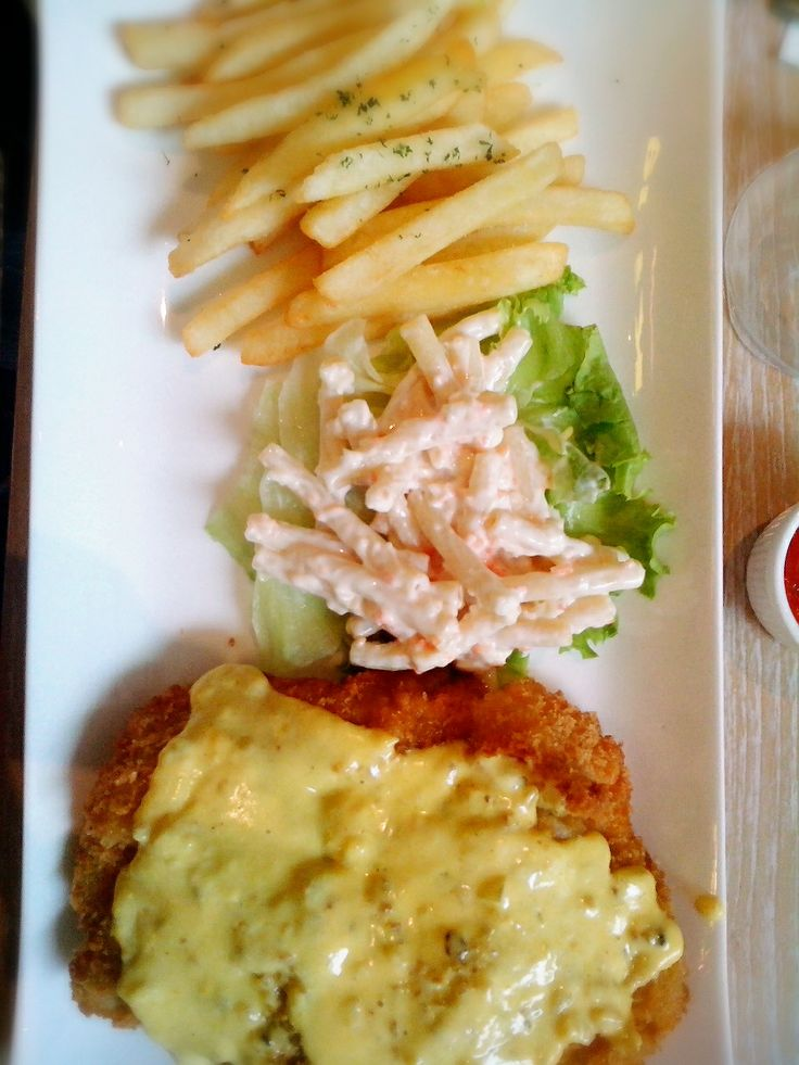 chicken maryland. classic menu of most restaurant that i went in Indonesia, tho its an american  (at) whitebox bistro, south jakarta