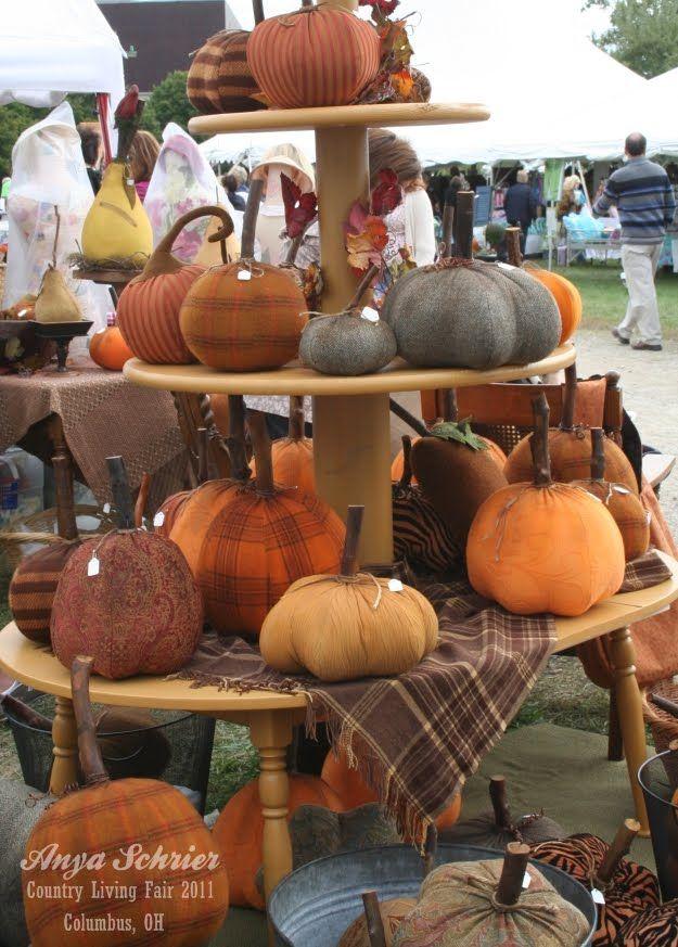 fabric pumpkins   Crafty   Pinterest