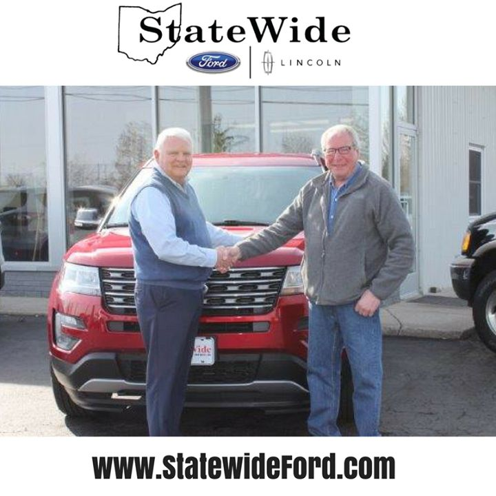 David Bebout taking delivery of his new Ford Explorer from Randy Custer. Thank you for your business!