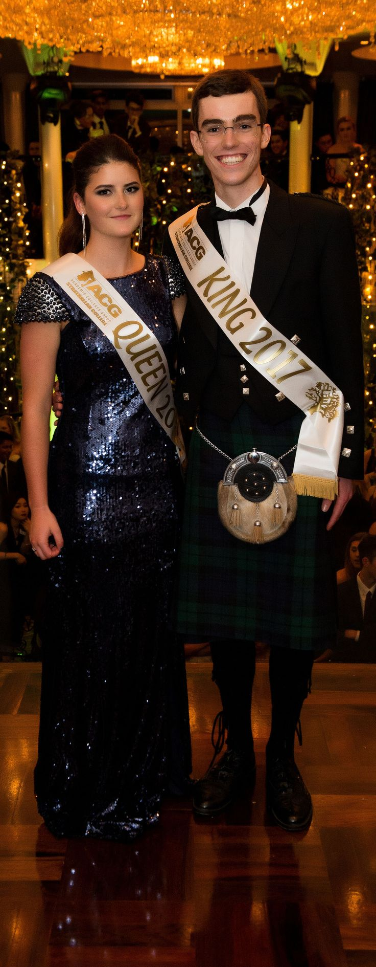 Strathallan College School Ball 2017. King and Queen!