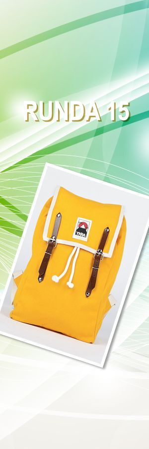 Plecak YELLOW MATRA MINI with cotton strap; Projektant: YKRA; Wartość: 449 zł. Poczucie piękna: bezcenne. Powyższy materiał nie stanowi oferty handlowej.