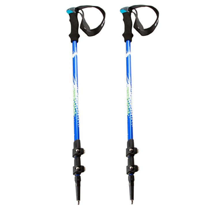 2pcs/lot Ultralight Aluminum Nordic Walking Sticks Telescopic Trekking,Hiking Poles With Rubber Tip #Affiliate