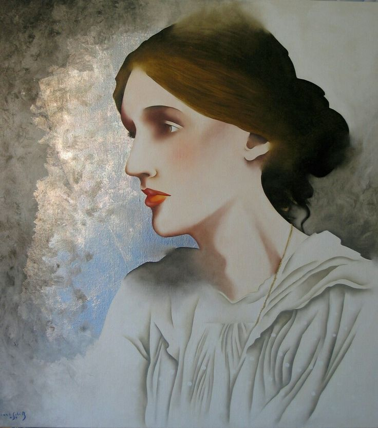 "The Indomitable Writer"" (Virginia Woolf), by GSPaintings"