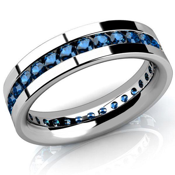2ct Channel Set Blue Diamond Men S Eternity Wedding Band Ring Blue Diamond Wedding Ring Blue Diamond Wedding Band Mens Diamond Wedding Bands