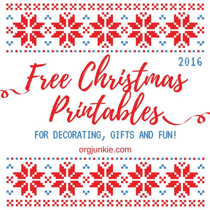 Fun and Free Christmas Printables 2016