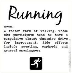 Funny running quotes and Running definitions Motivation for runners Gift for runners www.worrylessdesign.co.uk