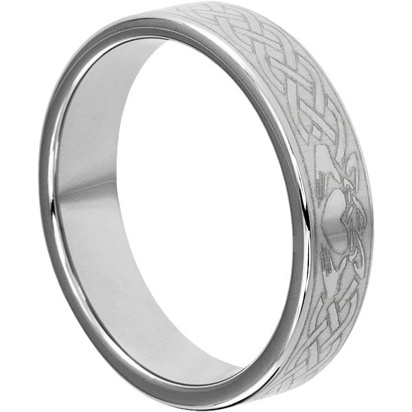 Forever Metals 6mm Clatter Irish Wedding Bands are part of the Claddagh Tungsten Rings collection. Clatter rings are comfort fit and lifetime warranted.