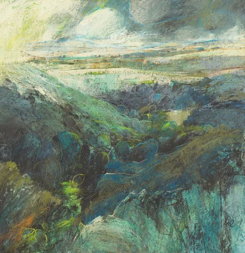 How to use pastels sara Bee-artists and Illustrators, uses gesso, acrylics charcoal
