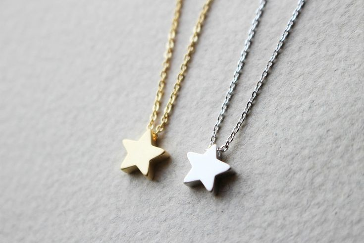 Star necklace, Gold star, Silver star, Minimal necklace, Simple necklace