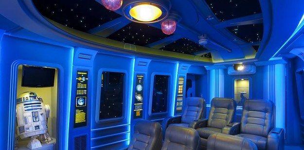 Home Cinema Nave Espacial | 27 tipos de decoração geek que você vai querer recriar