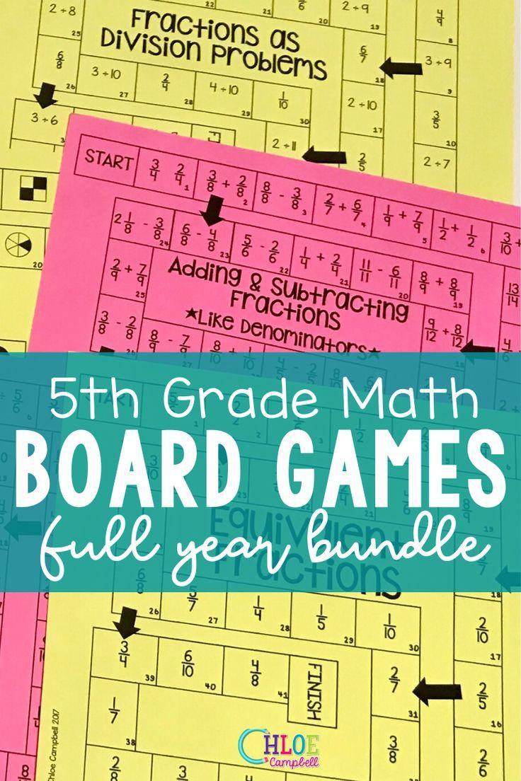 5th Grade Math Board Games Full Year Mega Bundle In 2020 5th Grade Math Math Board Games Math