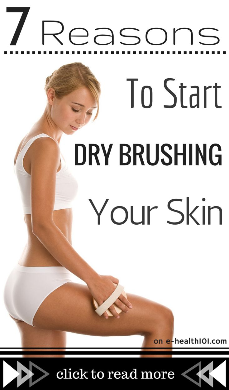 7 Reasons To Start Dry Brushing Your Skin - One simple routine to stimulate your lymphatic system, increase your circulation, detox and get rid of cellulite. http://www.e-health101.com/2014/10/7-reasons-start-dry-brushing-skin/ #drybrushing #cellulite