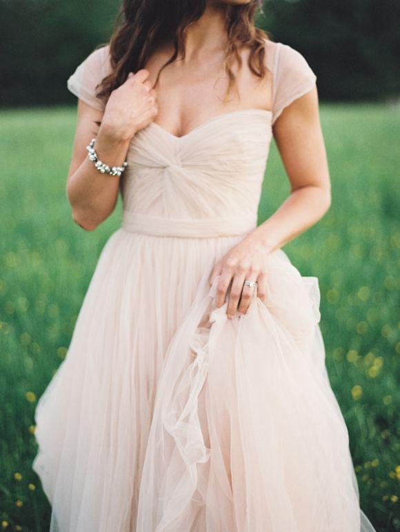 Blush Wedding Dress Reem Acra : Blush gown reem acra wedding dress pink