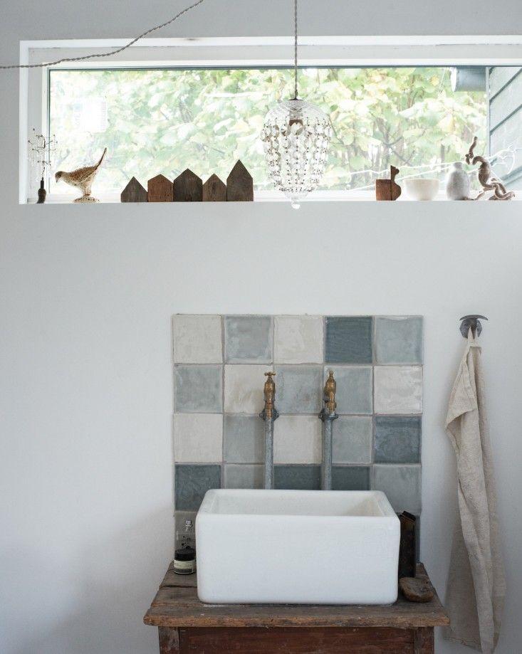 nspired Home Ditte Isager patchwork tile sink | Remodelista