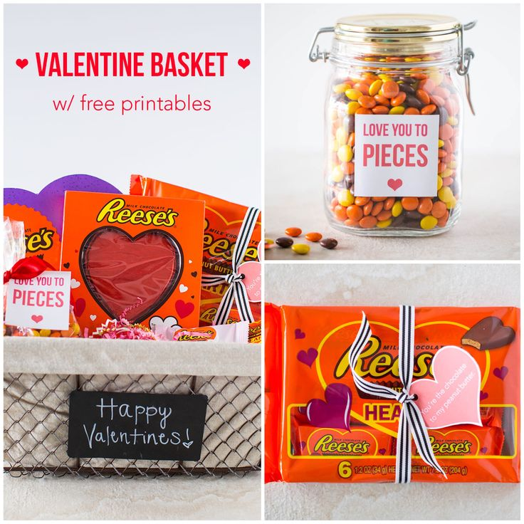 Reese's Valentine Printables – download for free for a cute and easy Valentine's gift!