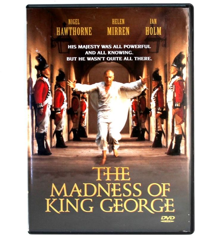 The Madness of King George DVD Nigel Hawthorne, Helen Mirren, Ian Holm - RARE